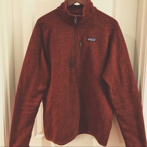 Patagonia M's Better Sweater 1/4 Zip Oxide Red L